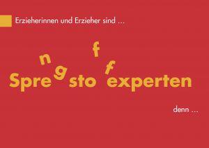 """Postkarte """"Erzieherinnen und Erzieher sind Sprengstoffexperten"""" aus der educcare Wertschätzungskampagne"""