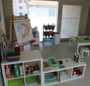 Atelier der Kita KinderUniversum in Karlsruhe