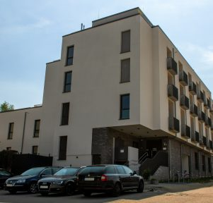 Außenansicht der Kita Campus Wohnen in Aachen