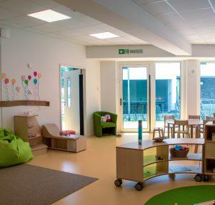 Innenraum der Kita Campus Wohnen in Aachen
