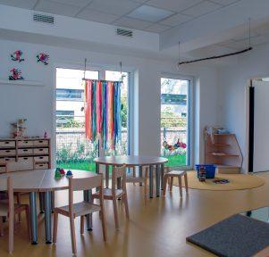 Innenansicht der Kita Campus Wohnen in Aachen