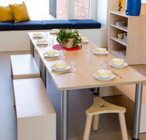 Frühstücksbereich der Kita Waldbach in Münster