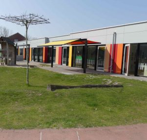 Außengelände der Kita LackiKids in Münster