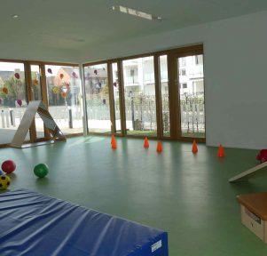 Bewegungsraum der Kita LackiKids in Münster