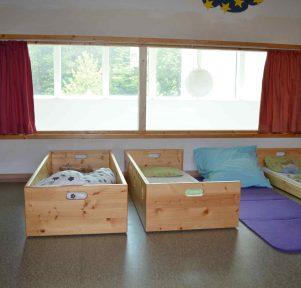 Schlafraum der Kita Darmstadt TU Kinderhaus Lichtwiese