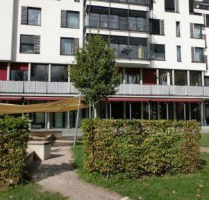 Außenansicht der Kita Mühlwichtel in Karlsruhe