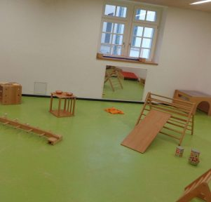 Bewegungsraum der Kita TU Kinderhaus Stadtmitte in Darmstadt