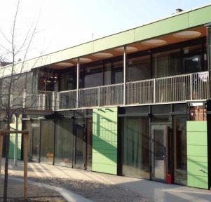 Sicht aufs Haus der Kita TU Kinderhaus Stadtmitte in Darmstadt