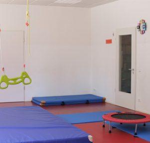 Bewegungsraum in der Kita KlinikPänz in Köln