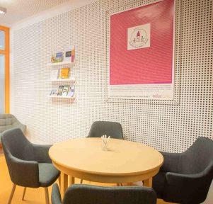 Elternzimmer der Kita Wasserflöhe in Karlsruhe