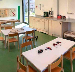 Werkstatt der Kita Zündfunken in Schwieberdingen