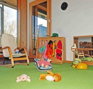 Rollenspielbereich in der Kita Die Zaunkönige In Stuttgart-Weilimdorf