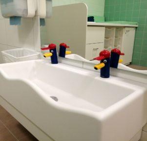 Waschraum Kita Blatt-Werk in Münster