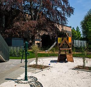 Kita Aachen Campus Wohnen Garten educcare