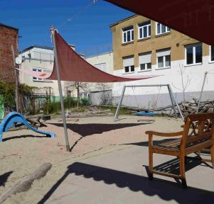 Kita Stuttgart West Hasenbergstraße Garten educcare