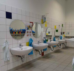 Kita Stuttgart West Hasenbergstraße Waschraum educcare