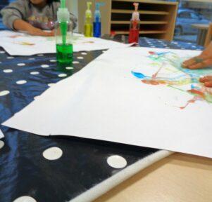 Malen mit Fingern Kita Blatt-Werk